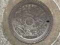Manhole cover of Kasuga, Fukuoka 2.jpg