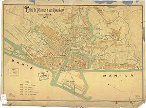 History of Manila - Map of Manila, 1898.