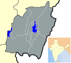 Location of Imphal East district in Manipur