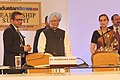 Manmohan Singh at the Hindustan Times Leadership Summit-2013, in New Delhi on December 06, 2013. The Chairperson and Editorial Director of the Hindustan Times group, Smt. Shobhana Bhartia is also seen.jpg
