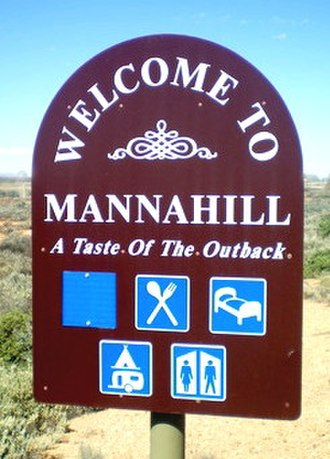 Mannahill, South Australia - A Mannahill entry sign.