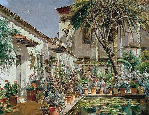 Manuel García Rodríguez - First Atrium of Santa Paula Convent, Seville - c 1920-25 - Museo CarmenThyssen Málaga