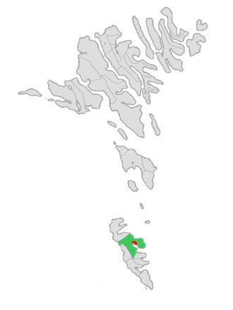 Tvøroyri - Image: Map position tvoroyar kommuna 2005