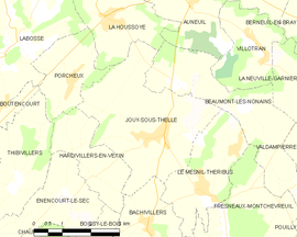 Mapa obce Jouy-sous-Thelle