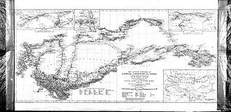 Aurel Stein - Map of Taklamakan from Stein's Serindia 1921, vol. V.