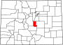 Map of Colorado highlighting Teller County.svg