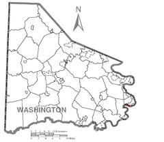 Map of Elco, Washington County, Pennsylvania Highlighted.png