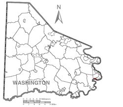 Location of Elco in Washington County