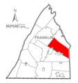 Map of Franklin County, Pennsylvania Highlighting Greene Township.PNG