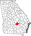 Map of Georgia highlighting Telfair County.svg