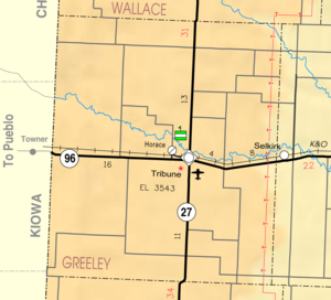 Greeley County, Kansas - Image: Map of Greeley Co, Ks, USA