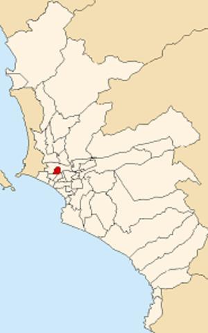 Breña - Image: Map of Lima highlighting Breña