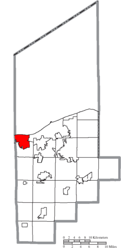Location of Vermilion in Lorain County