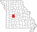 Map of Missouri highlighting Benton County.png