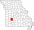 Map of Missouri highlighting Polk County.png