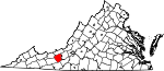 State map highlighting Pulaski County