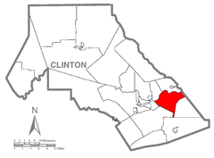 Map of Wayne Township, Clinton County, Pennsylvania Highlighted.png