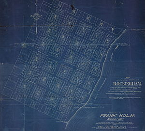 Rockingham Township, Iowa - Image: Map old rockingham