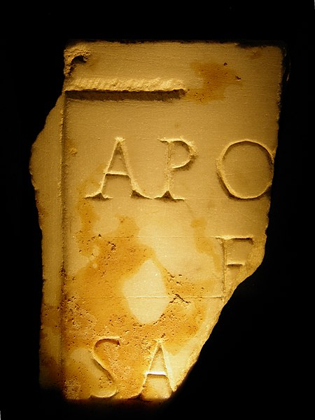 Marble inscription dedicated to the god Apollo, Grand (Andesina), France