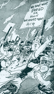 A contemporary newspaper's rendering of the strikers