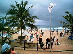 Main beach of Margate, KwaZulu-Natal