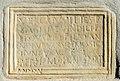 Maria Saal Pörtschach am Berg Pfarrkirche röm. Grabbauinschrift Vercaius Agisia Verus 27122018 6441.jpg