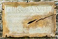 Maria Saal Zollfeld Virunum Arena Podium römische Bauinschrift 04102017 1337.jpg