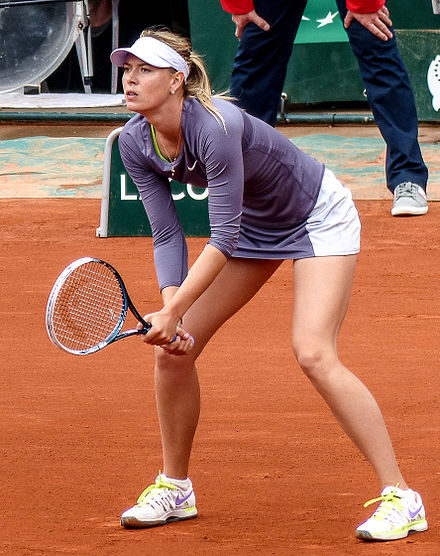 Sharapova at the French Open, May 2013