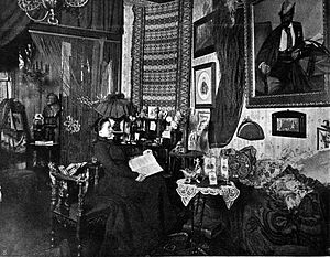 Marie Gutheil-Schoder - Marie Gutheil-Schoder, in her Viennese home, 1901