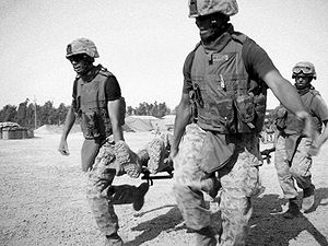 English: Marines of Regimental Combat Team 5, ...