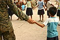 Marines plays a game with children (4434698941).jpg