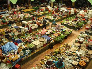 Deutsch: Markt in Kota Bahru flashback
