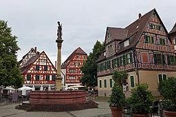 View of Marktplatz, Ladenburg, Germany.