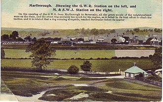Midland and South Western Junction Railway - Marlborough railway stations from an old postcard
