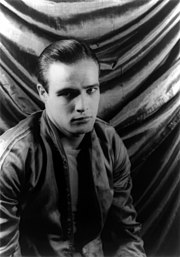 A 24 year old Brando as Stanley Kowalski on the set of the stage version of A Streetcar Named Desire, photographed by Carl Van Vechten in 1948