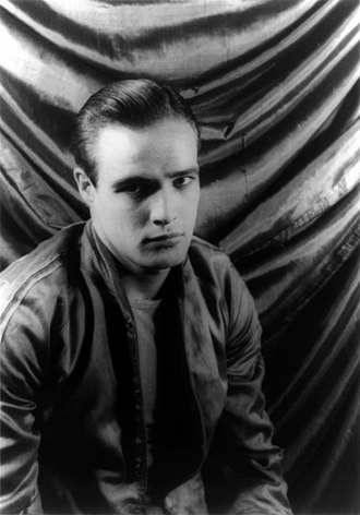 Leather subculture - Marlon Brando in leather jacket, 1950s