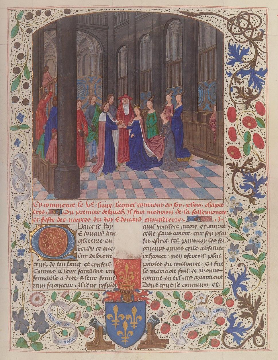 Marriage Edward IV Elizabeth Woodville Wavrin Anciennes Chroniques d'Angleterre Francais 85 f109.jpeg