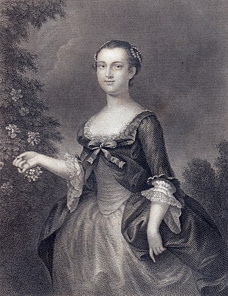 Martha Washington - Martha Washington as a young woman
