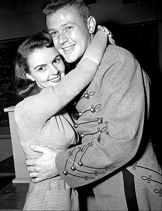Martin Milner - Carolyn Craig and Martin Milner on premiere episode of TV's The West Point Story (1956)