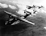 Martin PBM Mariners in flight over the U.S. East Coast, circa in 1943 (NH 85535).jpg