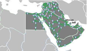 Arab Mashreq International Road Network - The map of the network