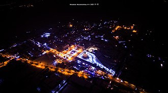 Masis, Armenia - The centre of Masis at night