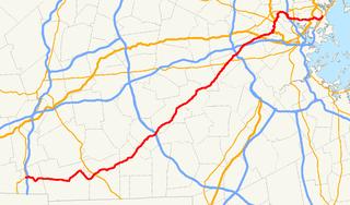 Massachusetts Route 16 Highway in Massachusetts