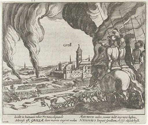 Maurits breekt het beleg van Grol op, 1595, RP-P-OB-80.174