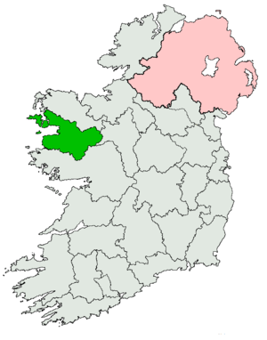 Mayo South (Dáil Éireann constituency) - Image: Mayo South (Dáil Constituency) 1923 1969