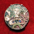 Medallion with the Bust of Christ (Cumberland Medallion), earliest object from the Guelph Treasure, late 700s AD, Weserraum, Germany, cloisonne enamel and gold on copper - Cleveland Museum of Art - DSC08482.JPG