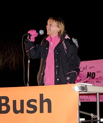 Medea Benjamin - Medea Benjamin speaks at a rally during the 2007 State of the Union Address in Washington, D.C.