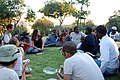 Meeting between Sudanese refugees and Israeli students.jpg