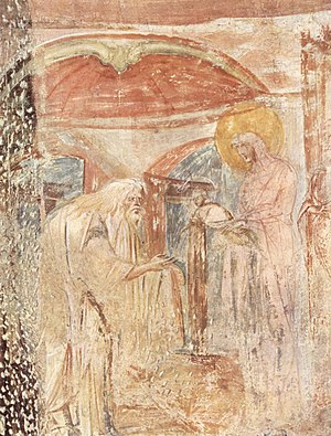 Castelseprio (archaeological park) - Fresco of Presentation of Jesus in the Temple.