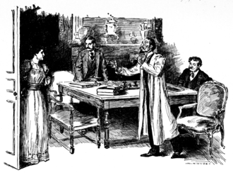The Adventure of the Greek Interpreter - 1894 illustration by W. H. Hyde